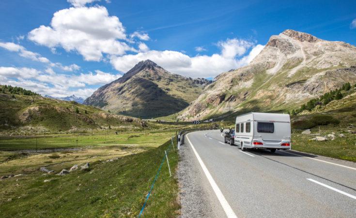 Caravan-Bergen-Zwitserland