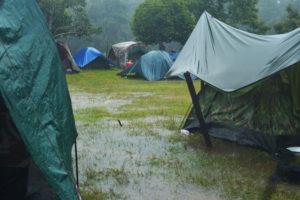 Camping-regen