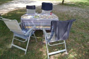 Ontbijttafel-Camping